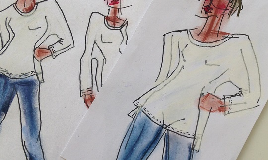 SS15 white t-shirt co sketches