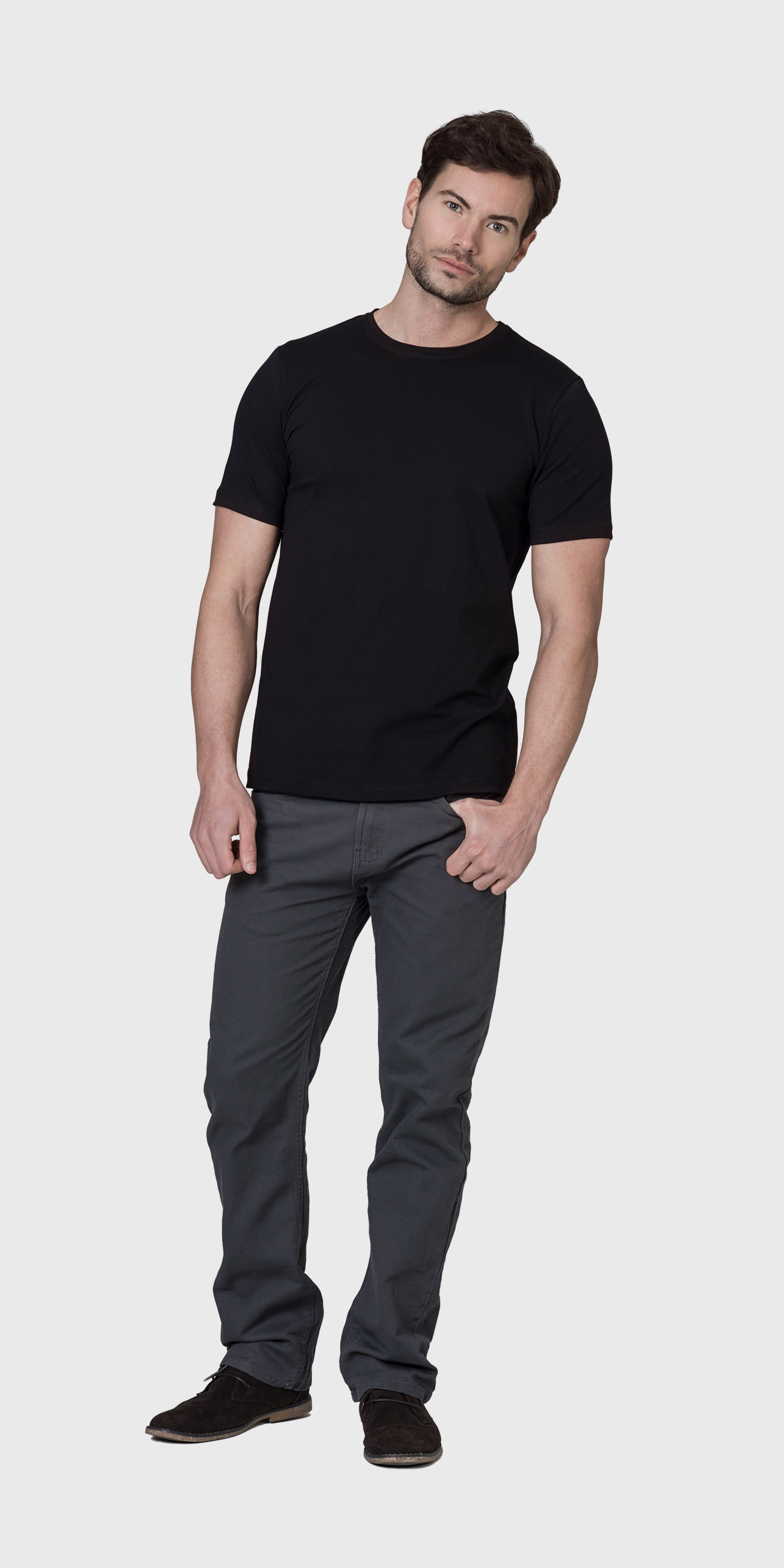 Black t shirt mens - Mens Black T Shirt Organic Cotton
