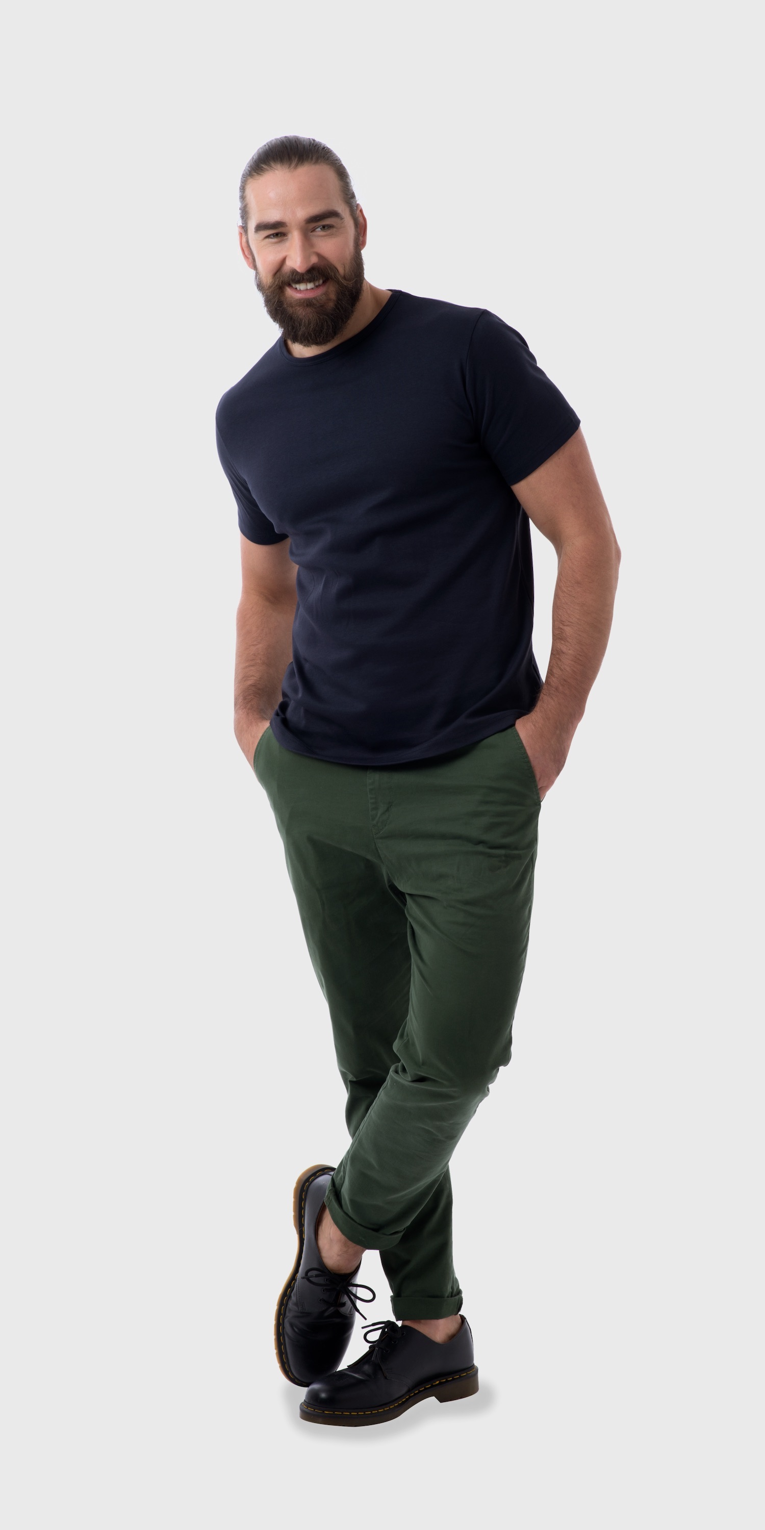mens navy organic cotton t-shirt