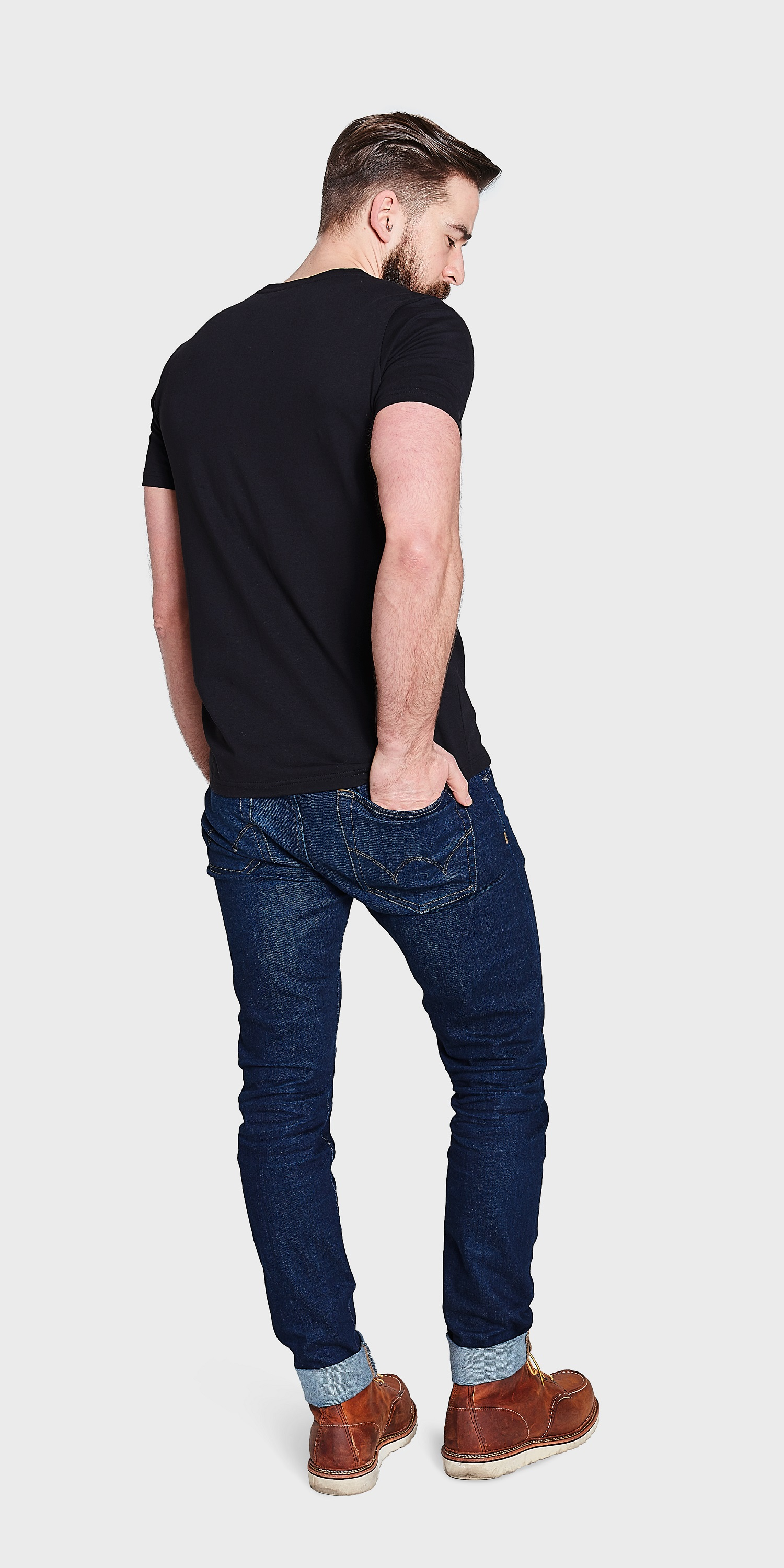 Mens V Neck T Shirt Organic Cotton