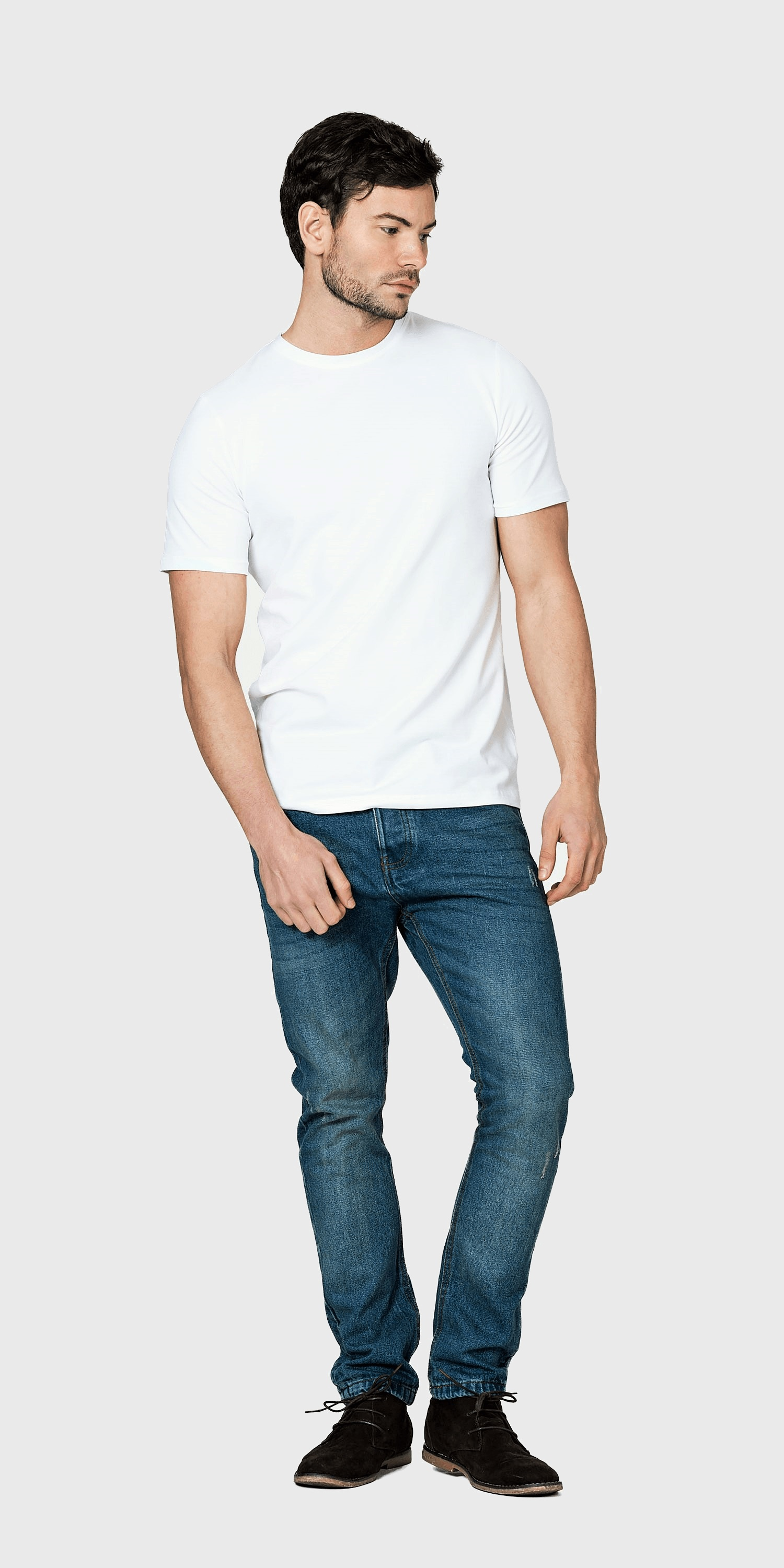 mens white t-shirt organic fitted