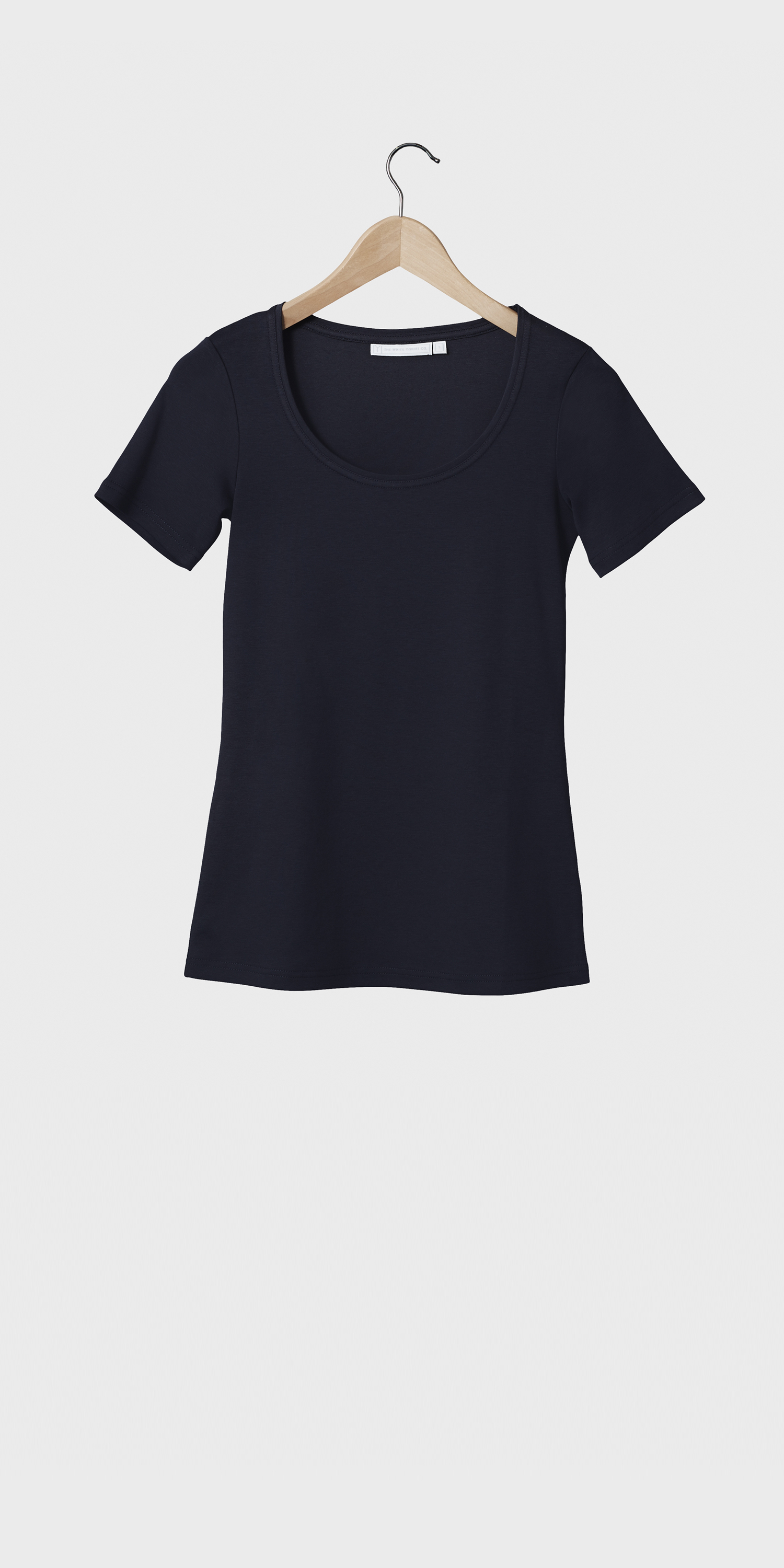 womens navy short sleeve scoop neck t-shirt