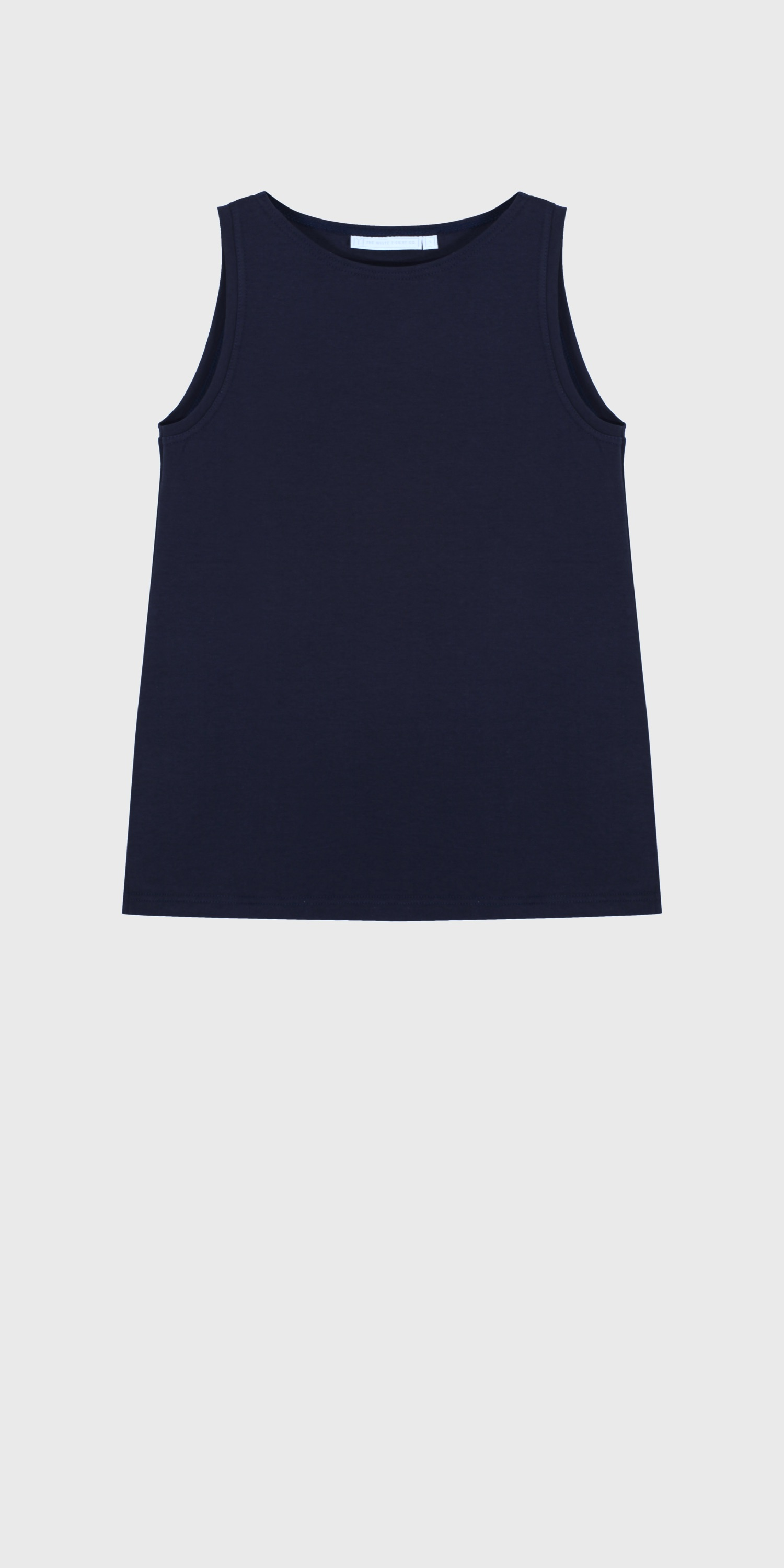 navy organic cotton boat neck vest