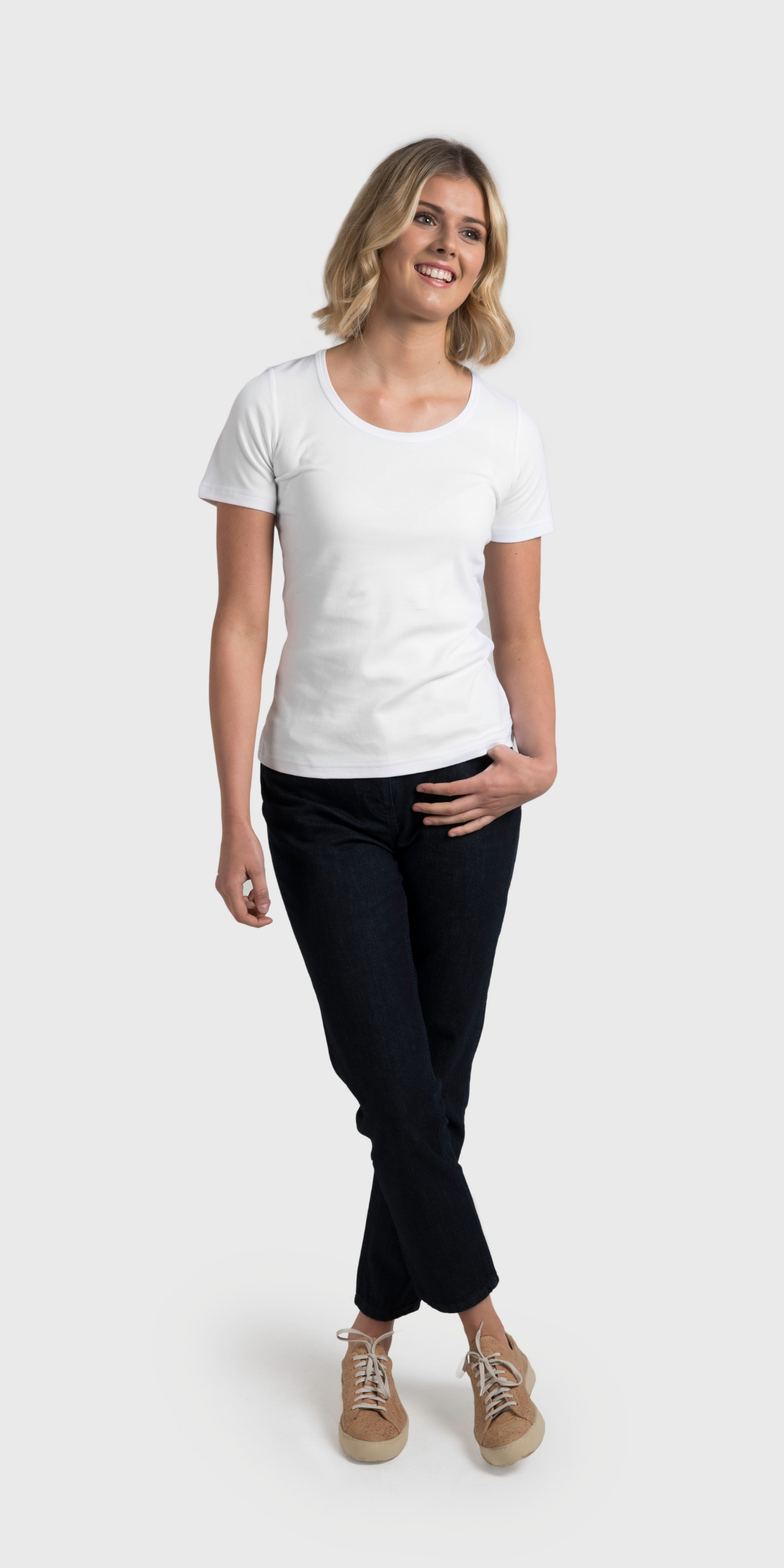organic cotton white scoop neck t-shirt