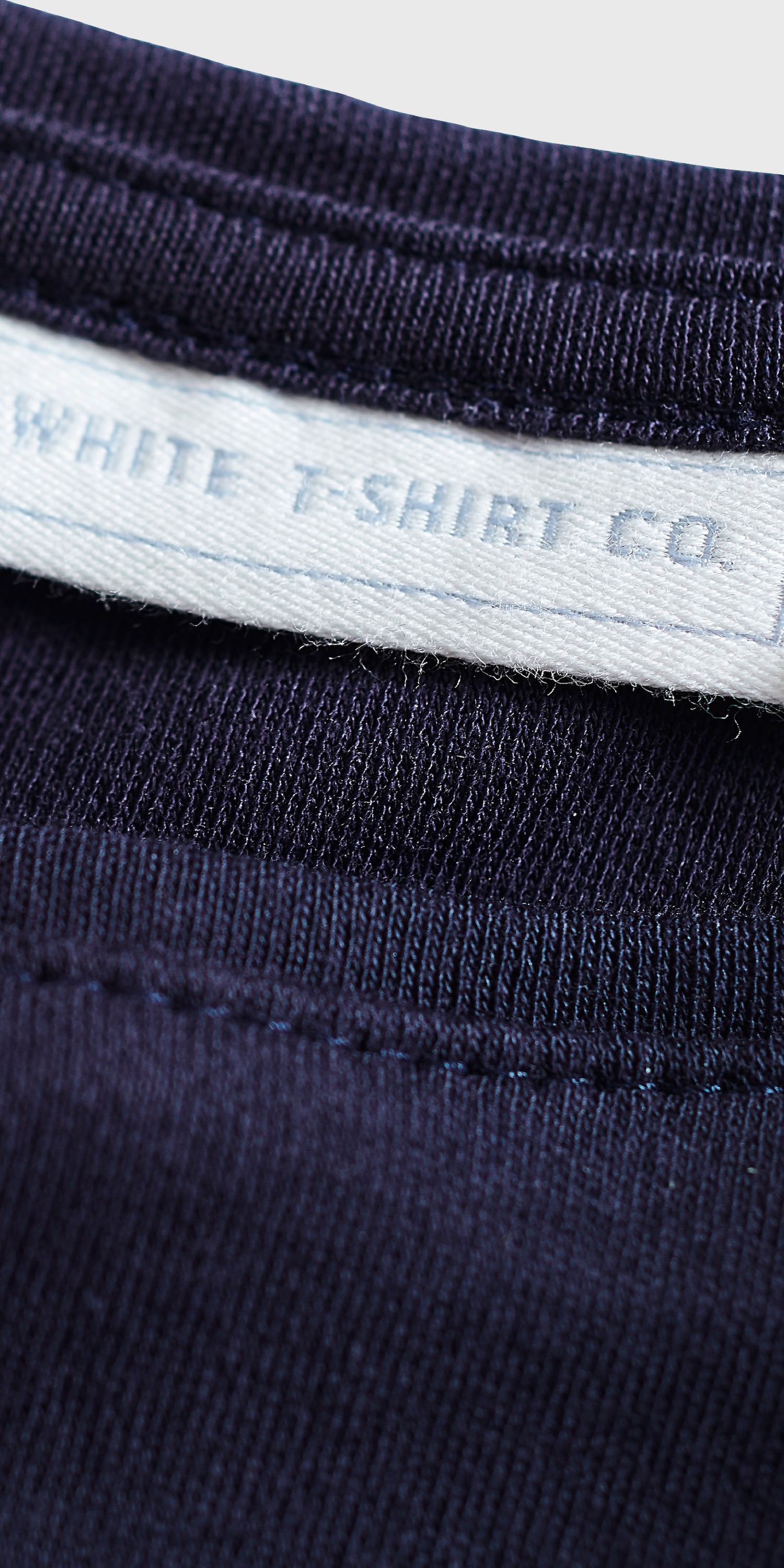 mens navy t-shirt with pocket detail