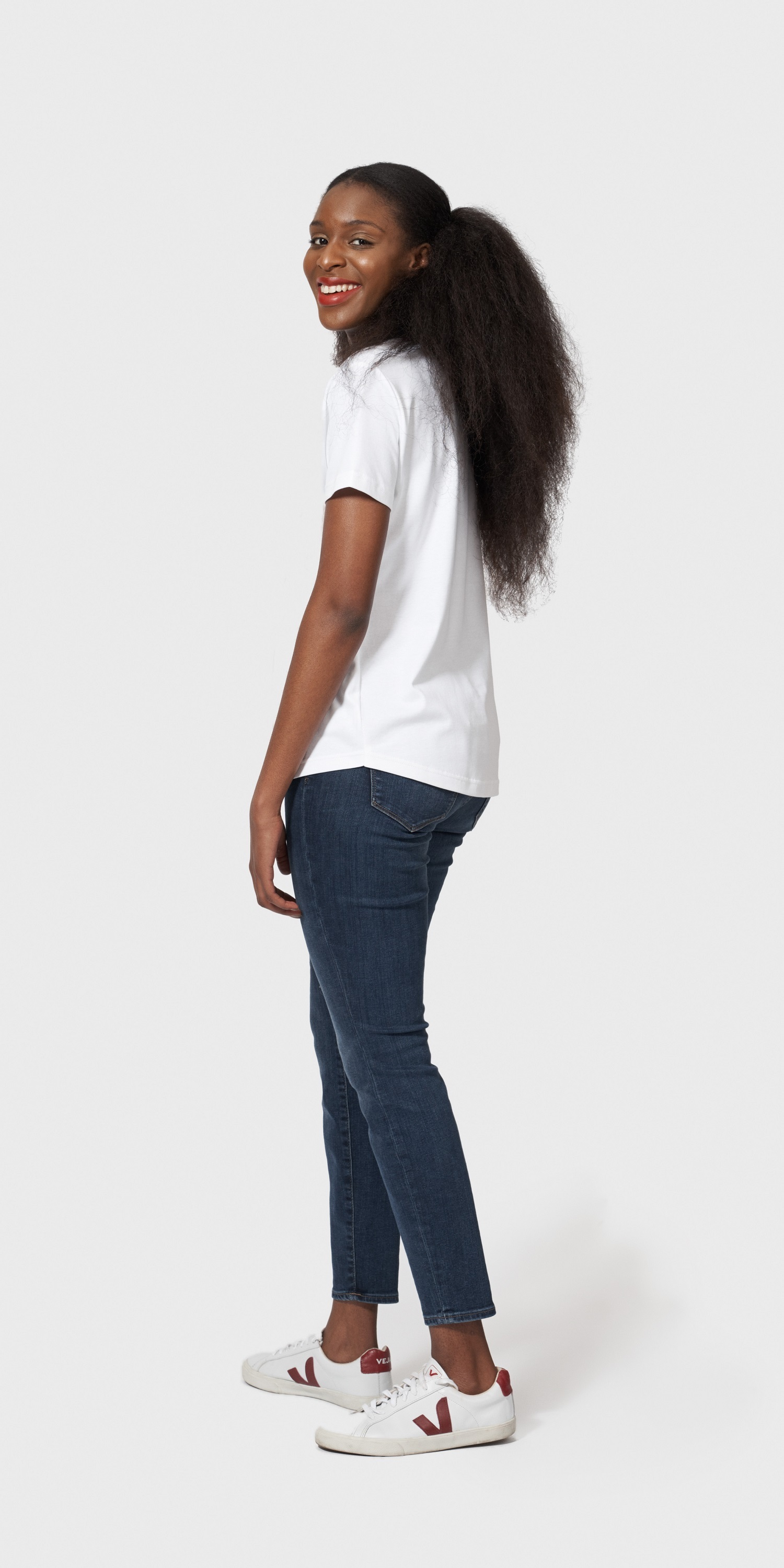 white organic cotton loose fit t-shirt side