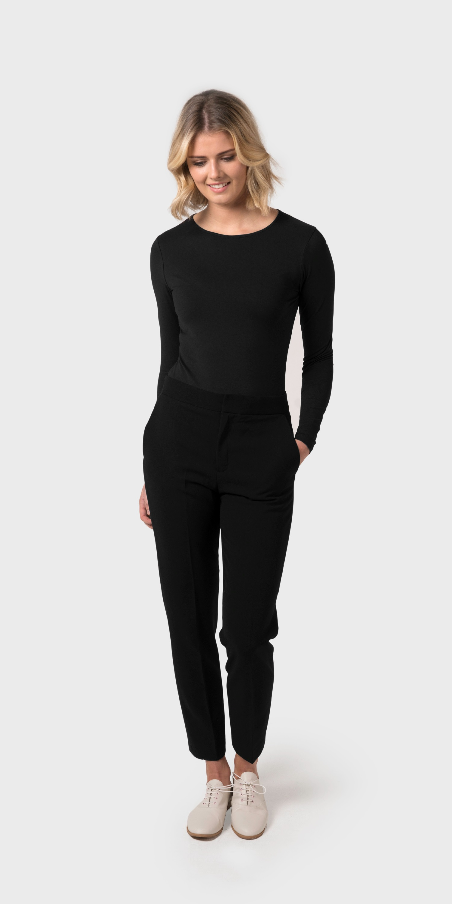 Women's black organic cotton body