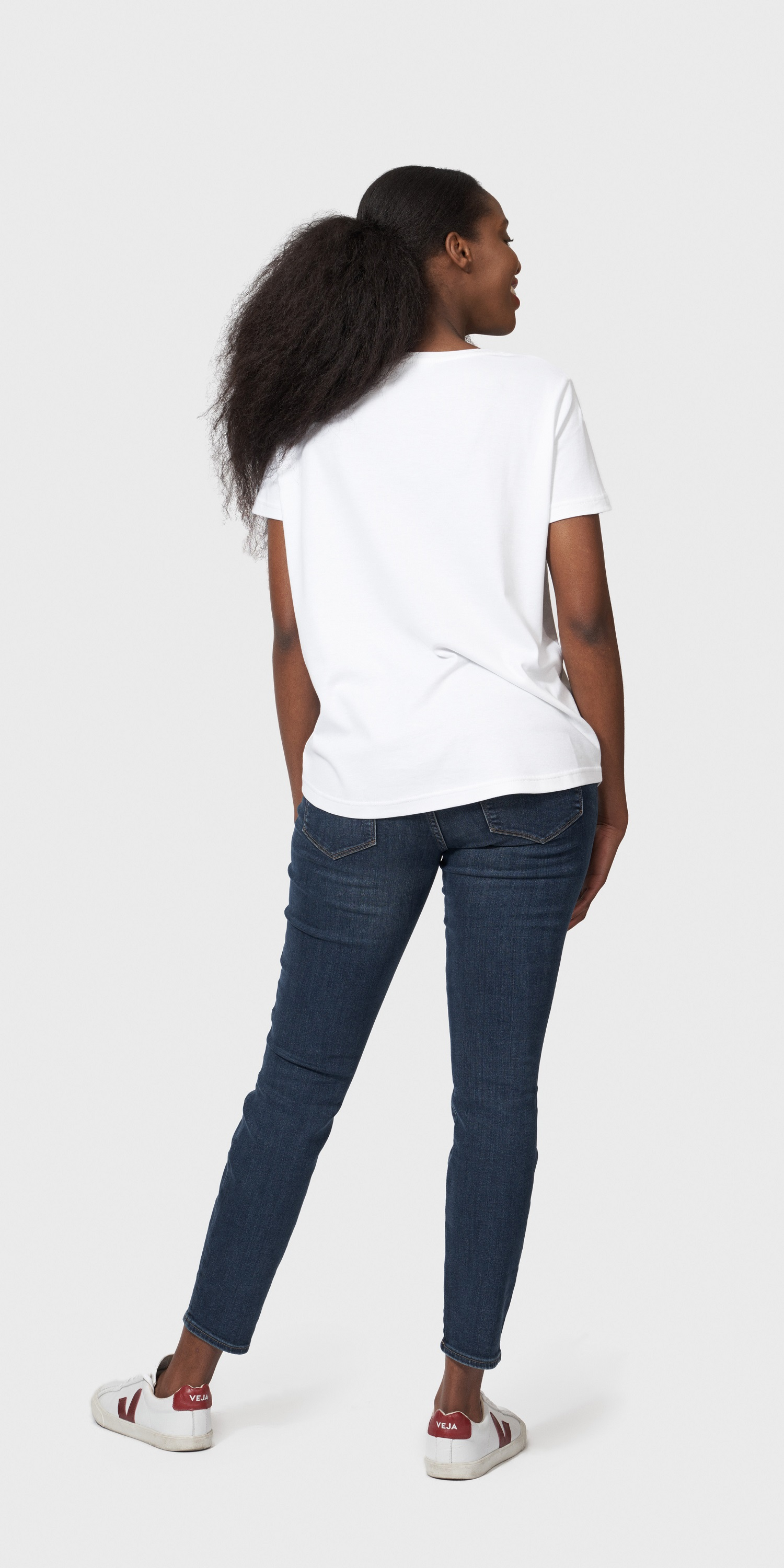 womens organic cotton loose fit t-shirt back
