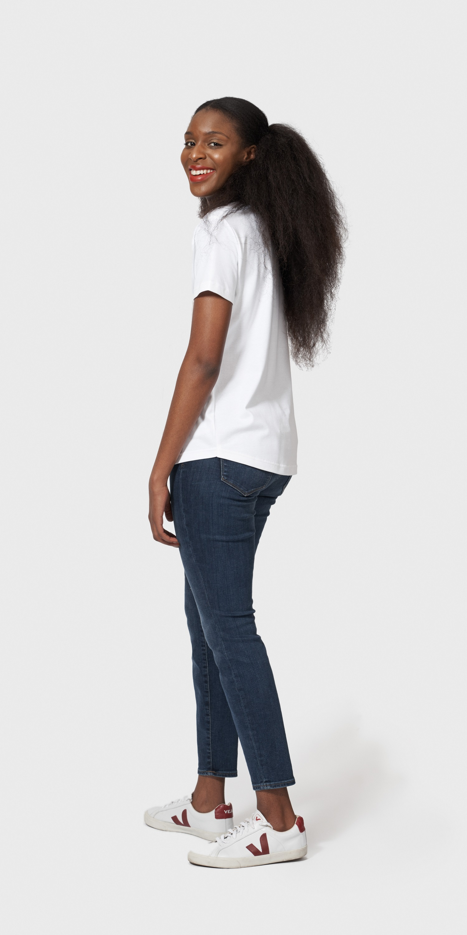 womens organic cotton loose fit t-shirt side