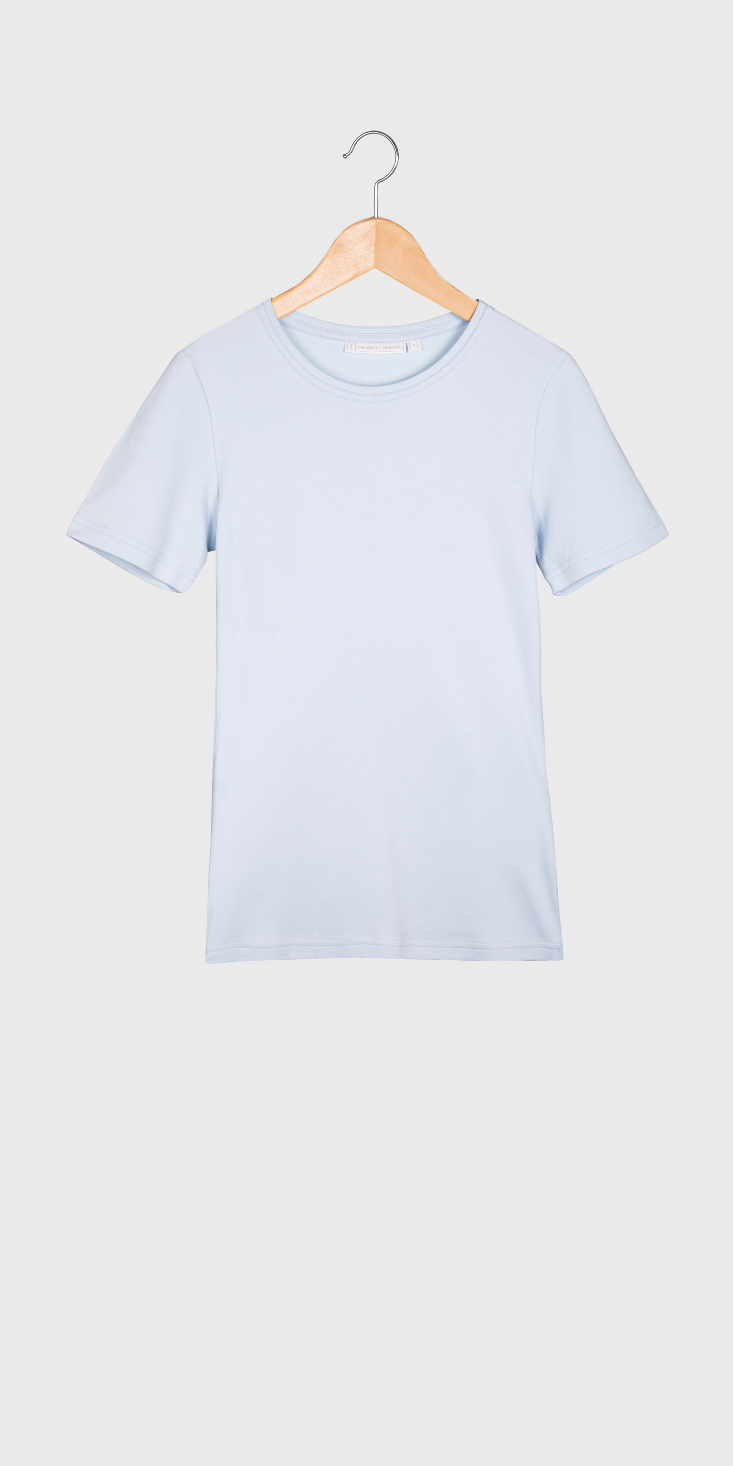womens pale blue organic cotton t-shirt