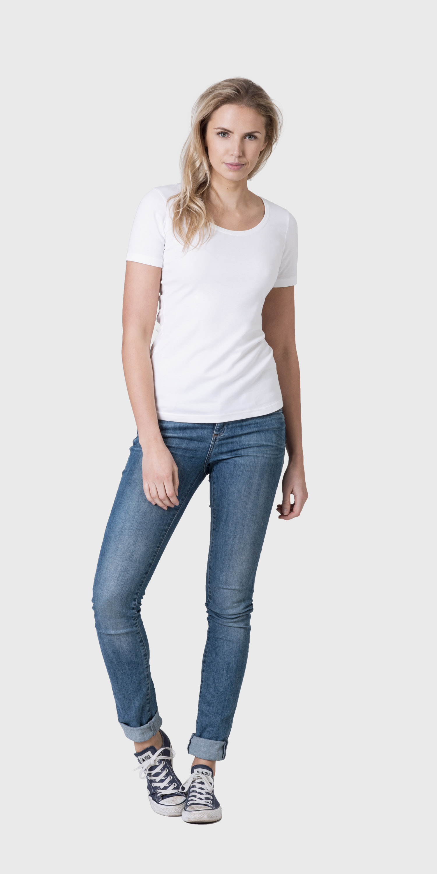 White t shirt for womens - Organic Cotton White Scoop Neck T Shirt