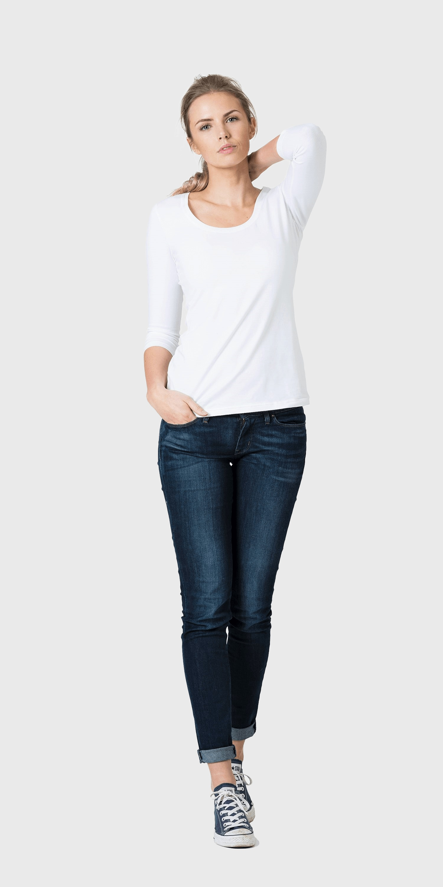 womens white organic cotton t-shirt