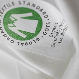 GOTS certified organic cotton label