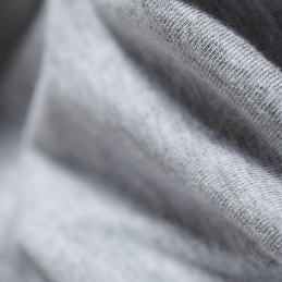 organic grey marl stitching detail