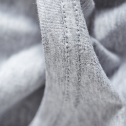 grey marl organic cotton neck detail