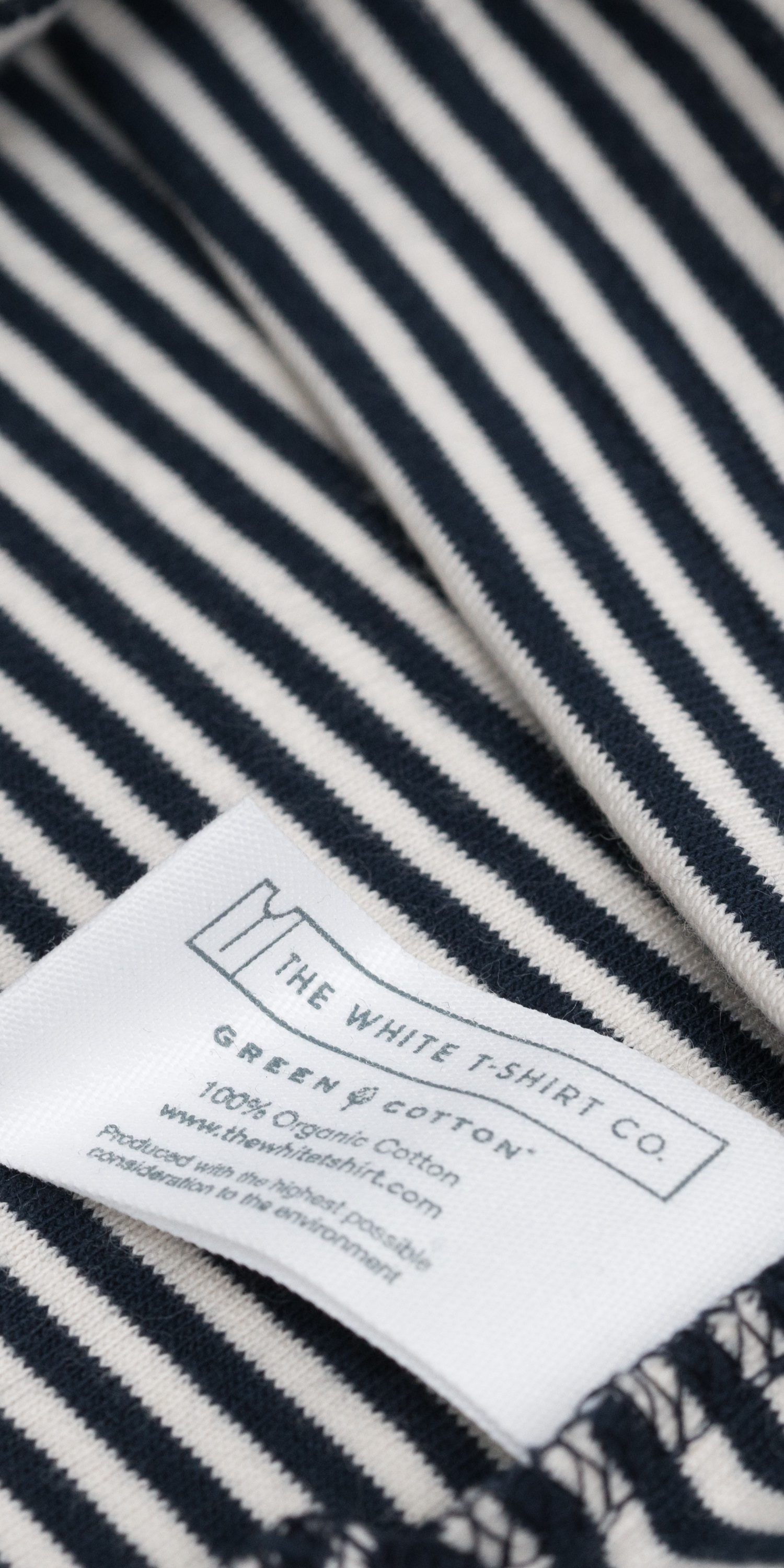 organic cotton navy stripe Breton fabric