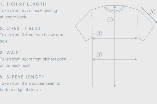Tailor your t-shirt, size and care | The White T-Shirt Co